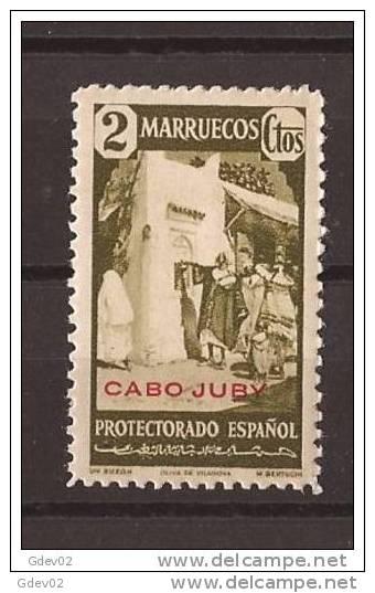 CJ117-LA866TRI.Maroc Marocco CABO JUBY.Sellos De Marruecos.1940.(Ed 117**) Sin Charnela.LUJO. - Islam