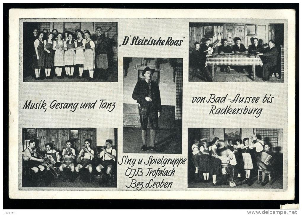 Cpa D' Autriche D' Steirische Roas Musik Gesang Und Tanz , Von Bad - Aussee Bis Radkersburg    6ao35 - Unclassified