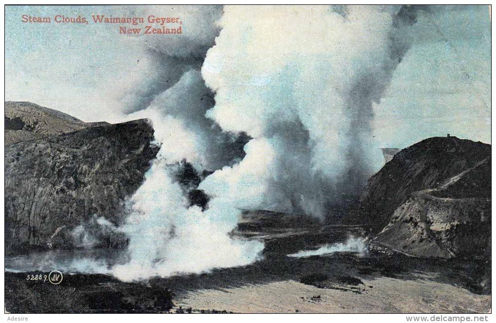 1915? NEW ZEALAND, Steam Clouds, Waimangu Geyser, Nicht Gelaufen Um 1915 - Neuseeland