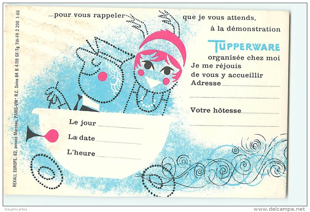 carte invitation tupperware
