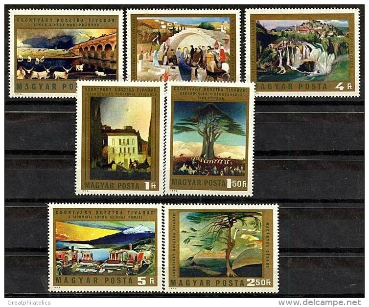 HUNGARY 1973 PAINTINGS MNH SC#2231-37 RELIGION, MADONNA, JUDAICA, ART, PAINTINGS - Christianity