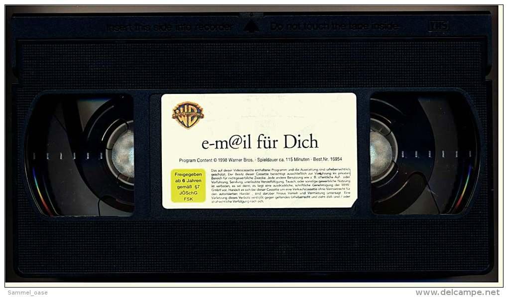 VHS Video ,  E-m@il Für Dich  -  Mit : Tom Hanks (Joe Fox), Meg Ryan (Kathleen Kelly)  -  Von 1999 - Romantique