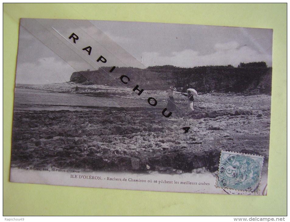 CPA - ILE D\´OLERON - Rochers De Chassron Où Se Pêchent Les Meilleurs Crabes - Ile D'Oléron