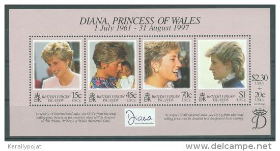 British Virgin Islands - 1998 Diana Block MNH__(TH-904) - British Virgin Islands