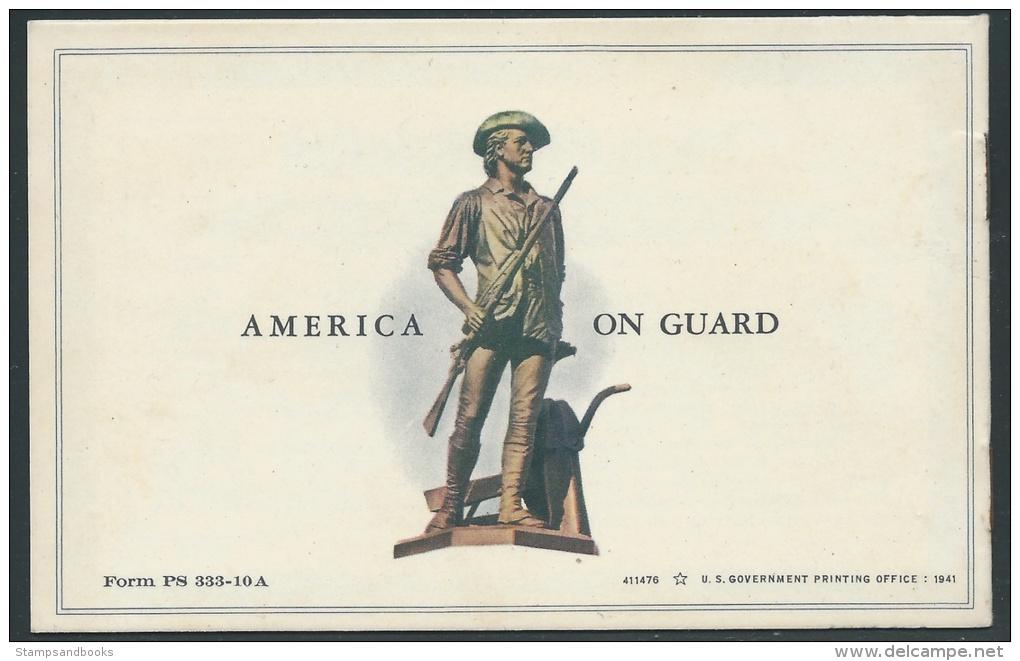 United States, Postal Savings Stamps Booklet For U.S. Defense Bonds, Unused - United States
