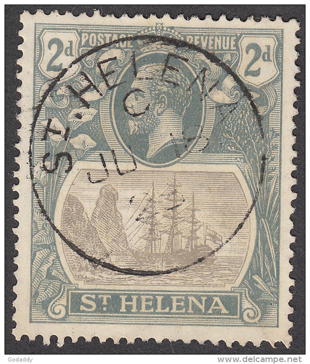 St Helena  1922  K.George V  2d  SG100  Used - Saint Helena Island