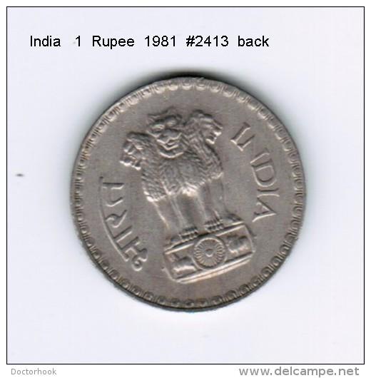 INDIA    1  RUPEE  1981 (KM # 78.3) - India