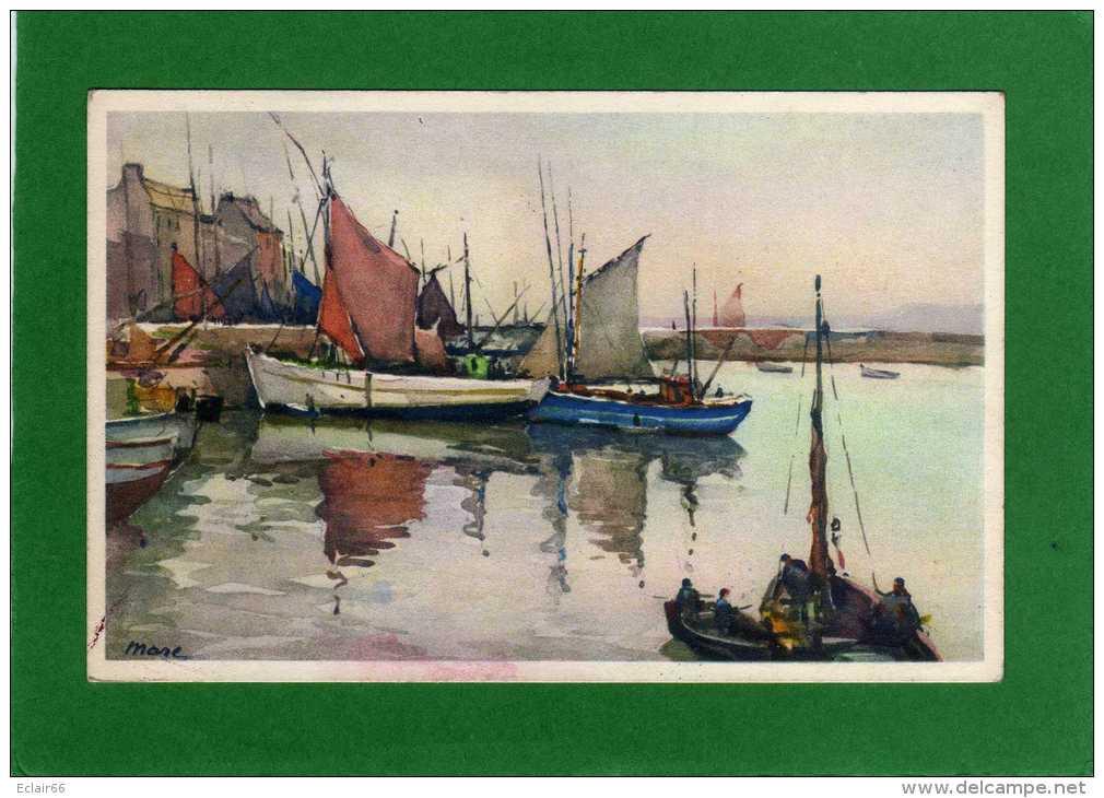 29 - Douarnenez - Finistère - Peinture Aquarelle Du Port De Douarnenez CPA   Signé N°443  EDIT Stehli - Douarnenez