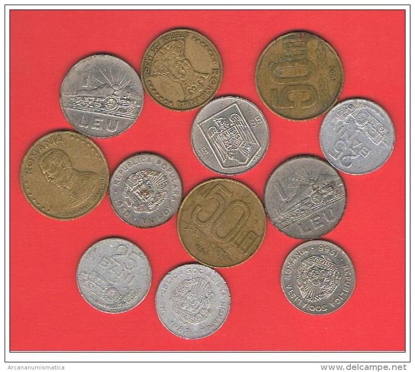RUMANIA  Lote De 12 Monedas Circuladas   MBC/VF   DL-10.551 - Rumania