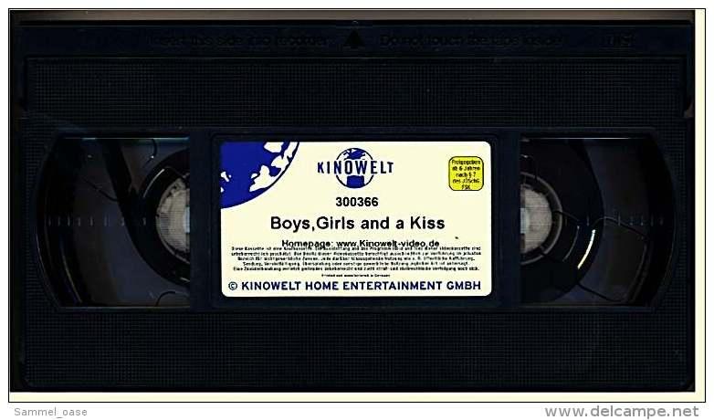 VHS Video  -  Boys, Girls & A Kiss  -  Freundschaft Ist Eine Beziehung Ohne Sex - Aber Wie Lange? -  Von 2000 - Romantique