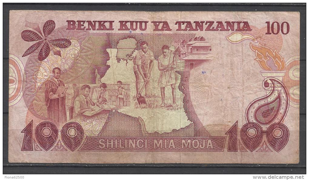 TANZANIE . 100 SHILLINGI . - Tanzanie