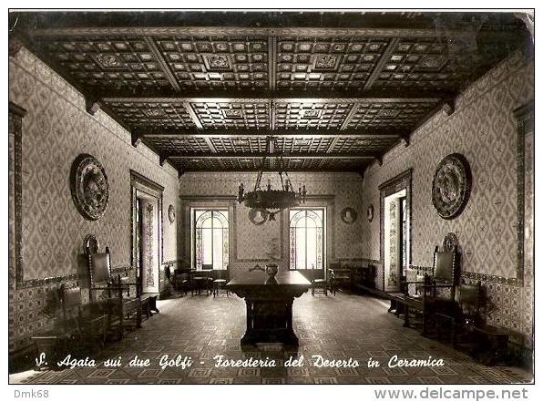 S. AGATA SUI DUE GOLFI  ( NAPOLI ) FORESTERIA DEL DESERTO IN CERAMICA - 1959 - Napoli (Naples)