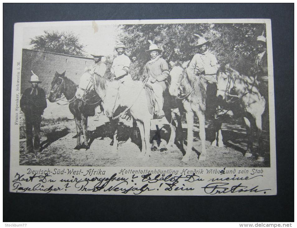 1905, ABBABIS, Feldpostkarte Mit Ansicht Nach Dresdenn - Colony: German South West Africa