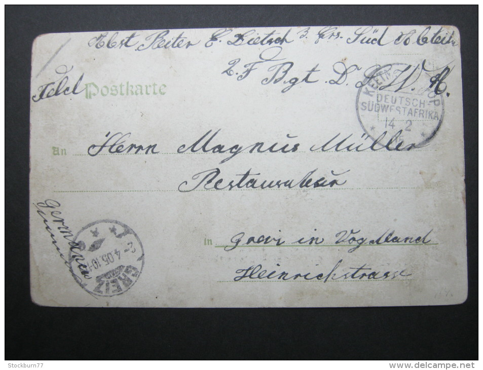 1905,KEETMANSHOOP, Feldpostkarte Mit Ansicht Nach Greiz - Colony: German South West Africa