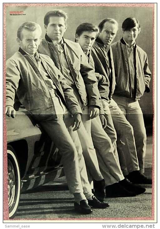 Kleines Musik Poster  -  The Beach Boys 1964  -  Rückseite : Bruce Lee / Die Todesfaust   -  Von Bravo Ca. 1982 - Plakate & Poster