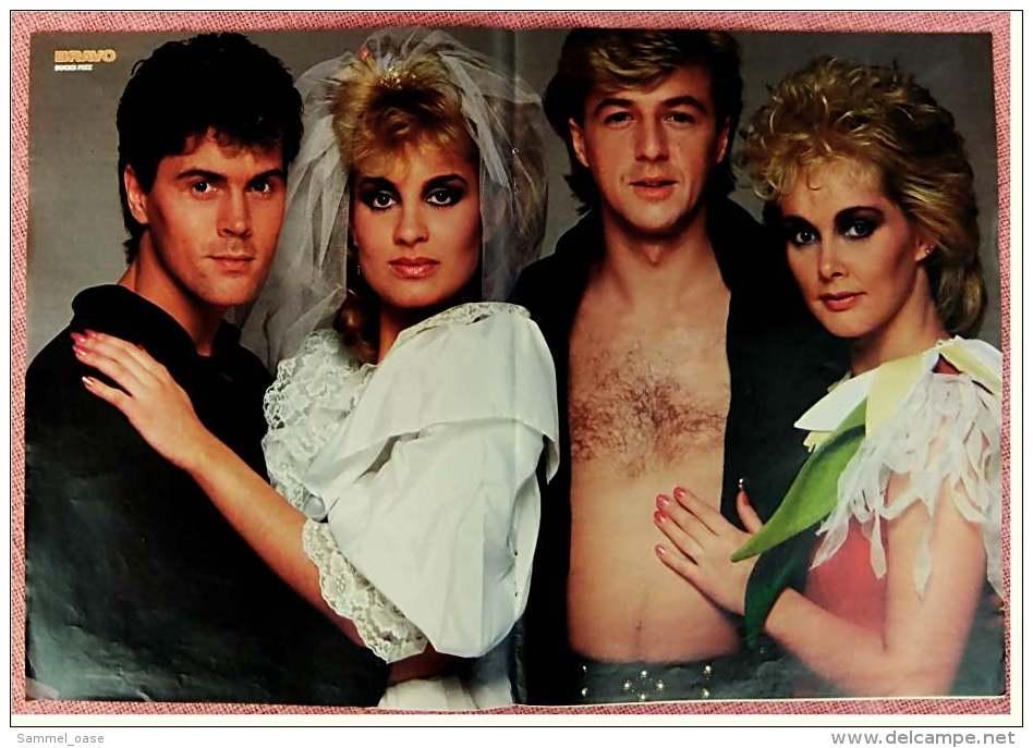 Kleines Musik Poster  -  Band Bucks Fizz  -  Von Bravo Ca. 1982 - Plakate & Poster