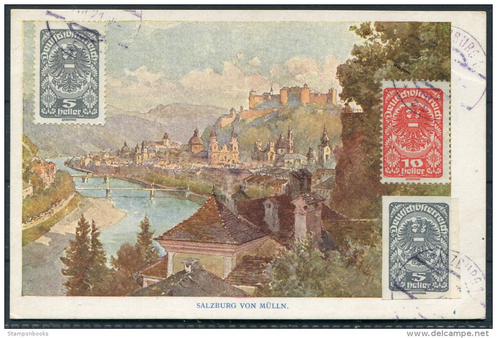 1921 Austria Salzburg Von Mulln - Herman Kerber Kunstlerpostkarte No 20 - Unclassified