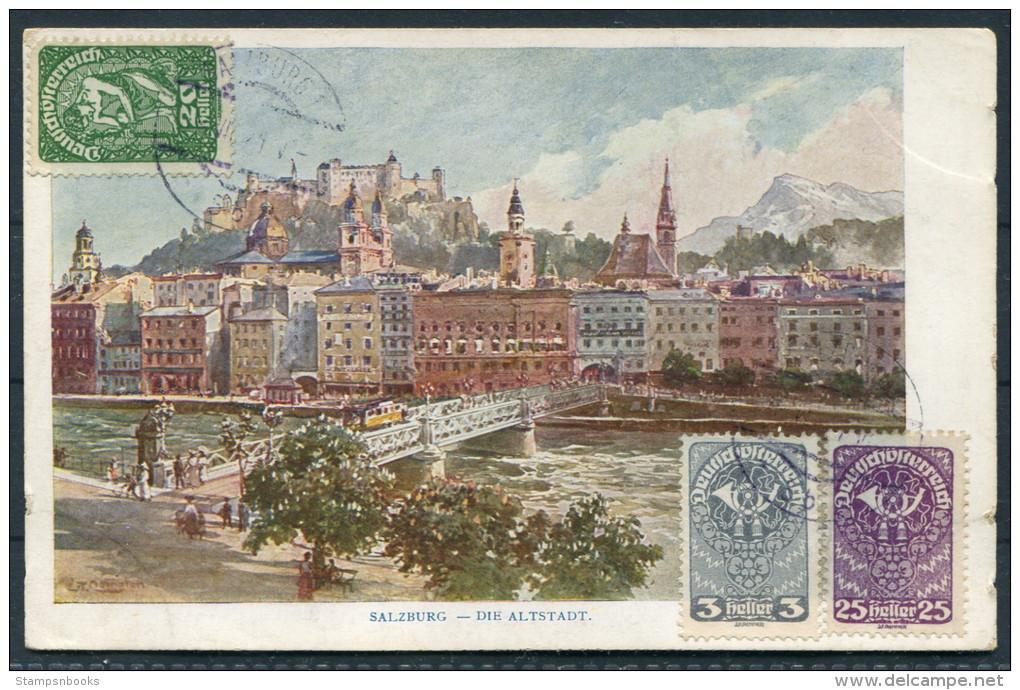 Austria Salzburg Die Altstadt - Herman Kerber Kunstlerpostkarte No 19 - Austria