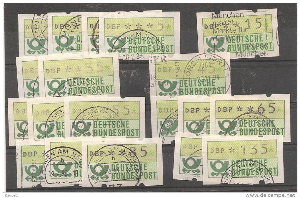 Steckkarte Mit Automatenmarken Deutschland - Siehe Scan - BRD