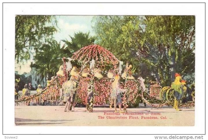 The Chanteclere Float, Pasadena Tournament Of Roses, Pasadena, California, 1900-1910s - Etats-Unis