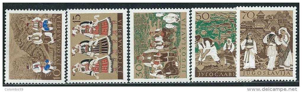 Jugoslavia 1957 Nuovo** - Mi.827/31  Yv.730/4  Non Completa - Nuovi