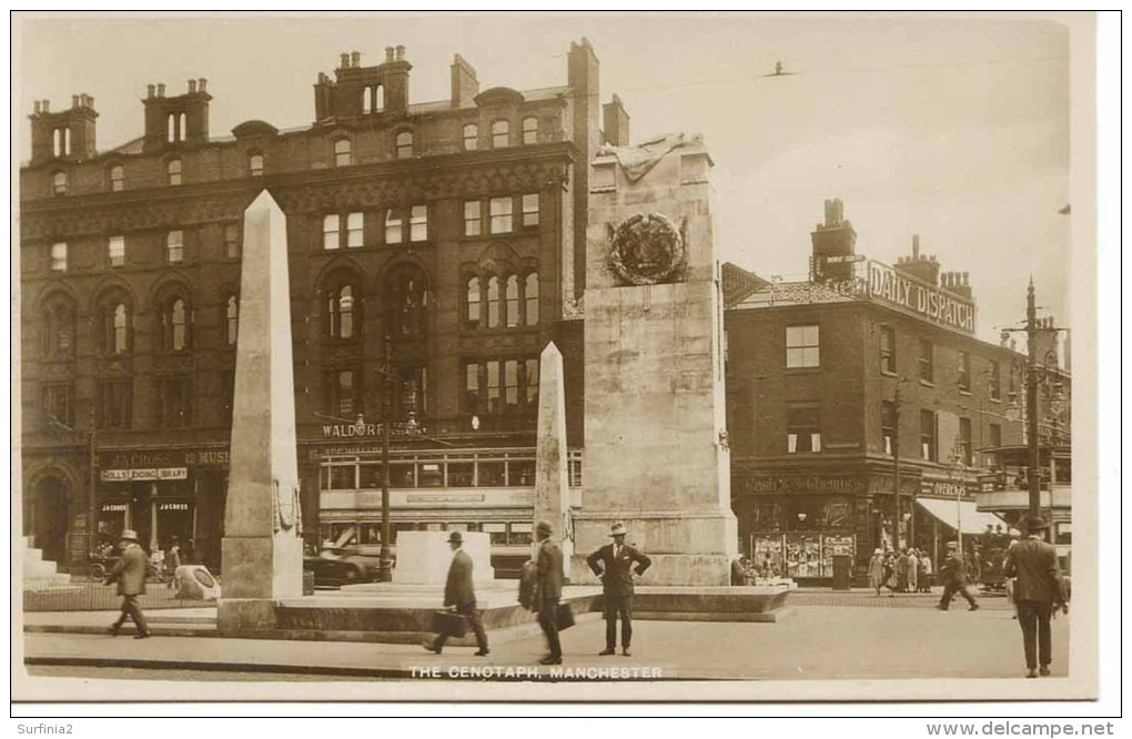 MANCHESTER - THE CENOTAPH - ANIMATED RP  Ma133 - Manchester