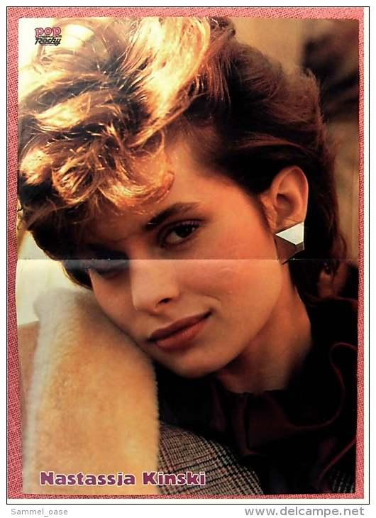 Kleines Poster  -  D.A.F.  -  Rückseite : Nastassja Kinski -  Von Pop-Rocky Ca. 1982 - Plakate & Poster