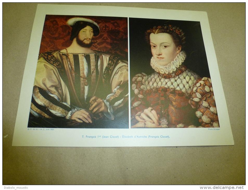 Photo Draeger De 1955  Grande Photographie En Couleurs (27cm X 21cm) FRANCOIS Ier Et ELISABETH D´AUTRICHE - Célébrités