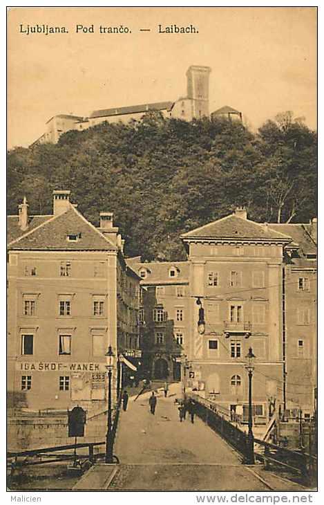 Pays Divers-slovénie -  Ref 739 -- Ljubljana - Pod Tranco - Laibach - Carte Bon état - - Slovénie
