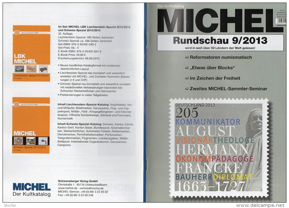Briefmarken Rundschau MICHEL 9/2013 Neu 5€ New Stamps Of The World Catalogue Magacine Of Germany ISBN 4 194371 105009 - Deutsch