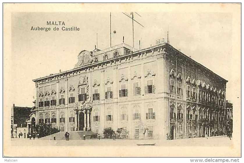 Pays Divers -malte -  Ref 721 -auberge De Castille  - Carte Bon état - - Malte