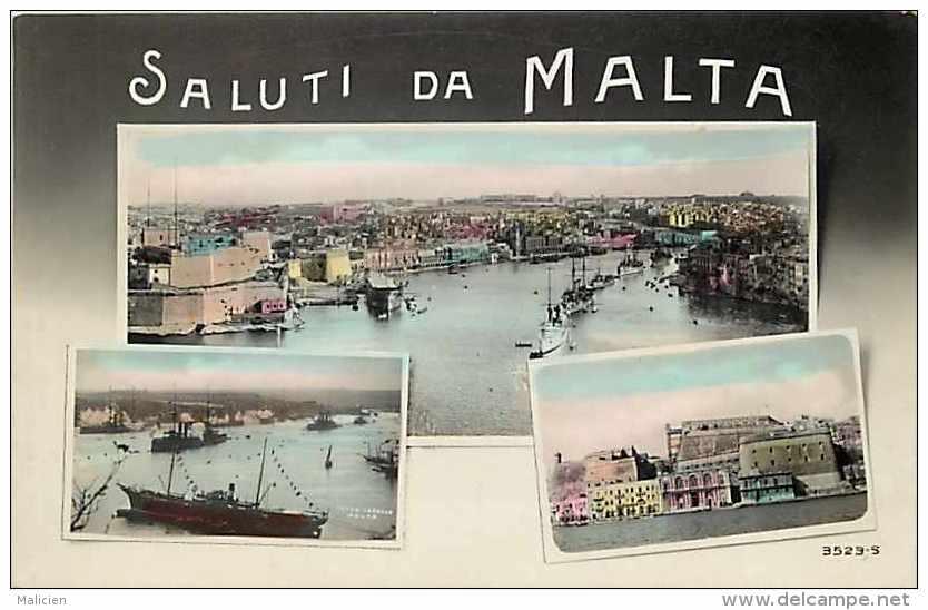 Pays Divers -malte -  Ref 719 - Saluti Di Malta - Carte Multivues -carte Bon état - - Malte