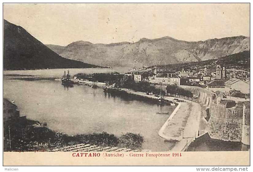 Pays Divers -montenegro - Ref 712 - Cattaro  - Kotor - Guerre 19014-18  - Carte Bon état - - Montenegro