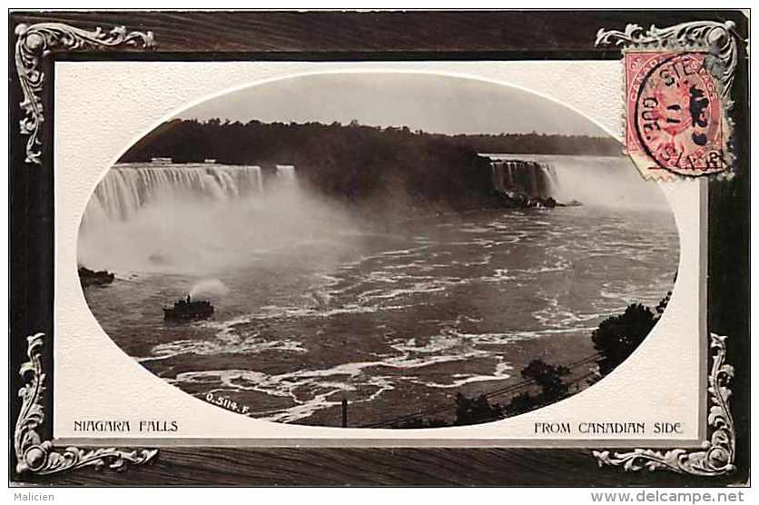 Pays Divers - Canada -ref 636 -niagara Falls From Canadian Side --chutes Du Niagara Du Côté Canadien - Carte Bon état _- - Canada