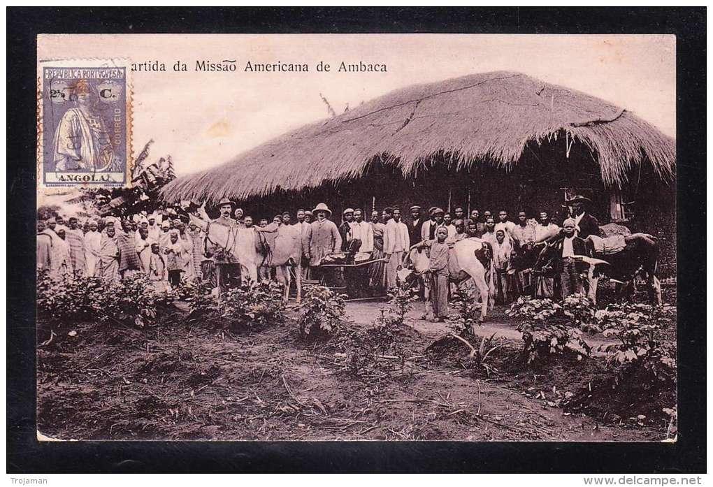 AFR2-86 ANGOLA PARTIDA DA MISSAO AMERICANA DE AMBACA - Angola