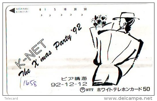 Télécarte Japon NOËL (1658) MERRY CHRISTMAS  Phonecard Japan * Telefonkarte WEIHNACHTEN JAPAN * KERST NAVIDAD * NATALE - Navidad