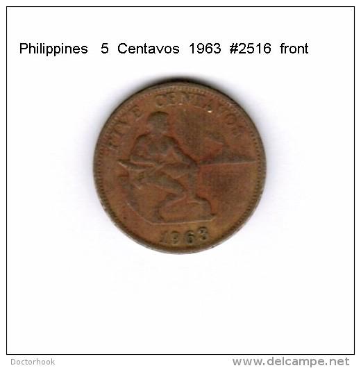 PHILIPPINES    5  CENTAVOS  1963  (KM # 187) - Philippines