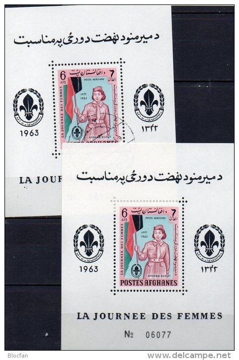 Rotes Kreuz Frauentag 1964 Pfadfinder Afghanistan Block 49 ** Plus O 3€ Foglietti M/s Women Bloc Scout Sheet Bf Afghanes - Afghanistan