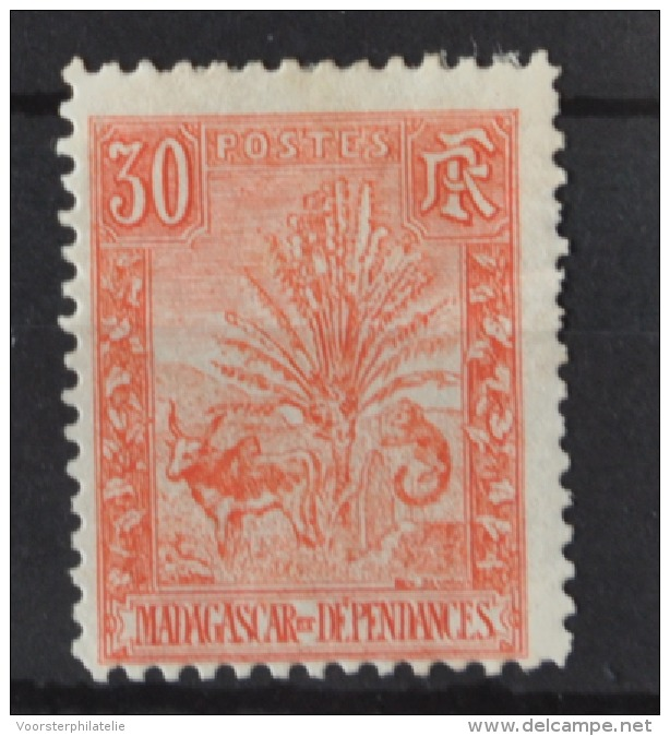 P 253 ++ MADAGASCAR 1903  HINGED PLAKREST - Madagaskar (1960-...)