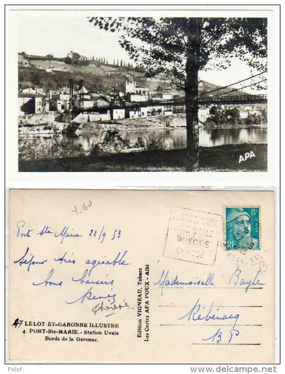 PORT SAINTE MARIE - Station Uvale  - Cachet Daguin .     (60169) - Autres Communes