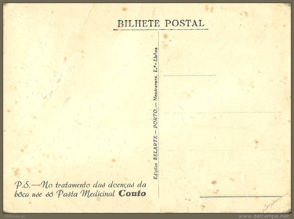 PORTUGAL - CINEMA - THE ACTRESS LUISA SATANELA - PASTA MEDICINAL COUTO - 40S ADV. PC. - Advertising