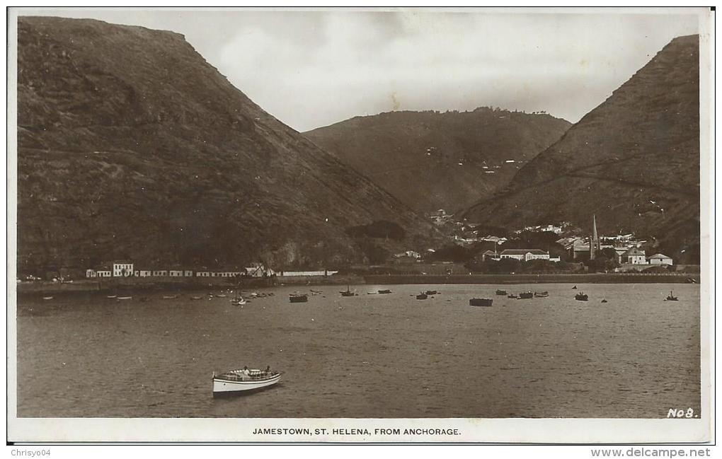 37Dd   Afrique Sainte Helene Jamestown From Anchorage - Saint Helena Island