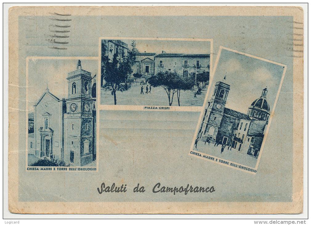 CAMPOFRANCO (CL) SALUTI & VEDUTINE 1949 - Caltanissetta