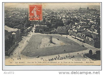 LE MANS : Vue Sur La Ville Prise Du Sommet De La Tour De La Cathédrale - ND Phot. 341 Joniaux éditeur - Le Mans