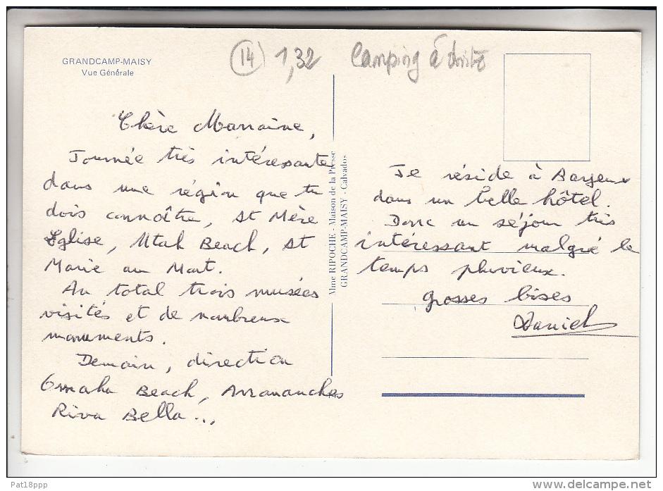 GRANDCAMP - MAISY 14 - Vue Générale ( Camping à Droite ) CPSM CPM GF - Calvados - Autres Communes