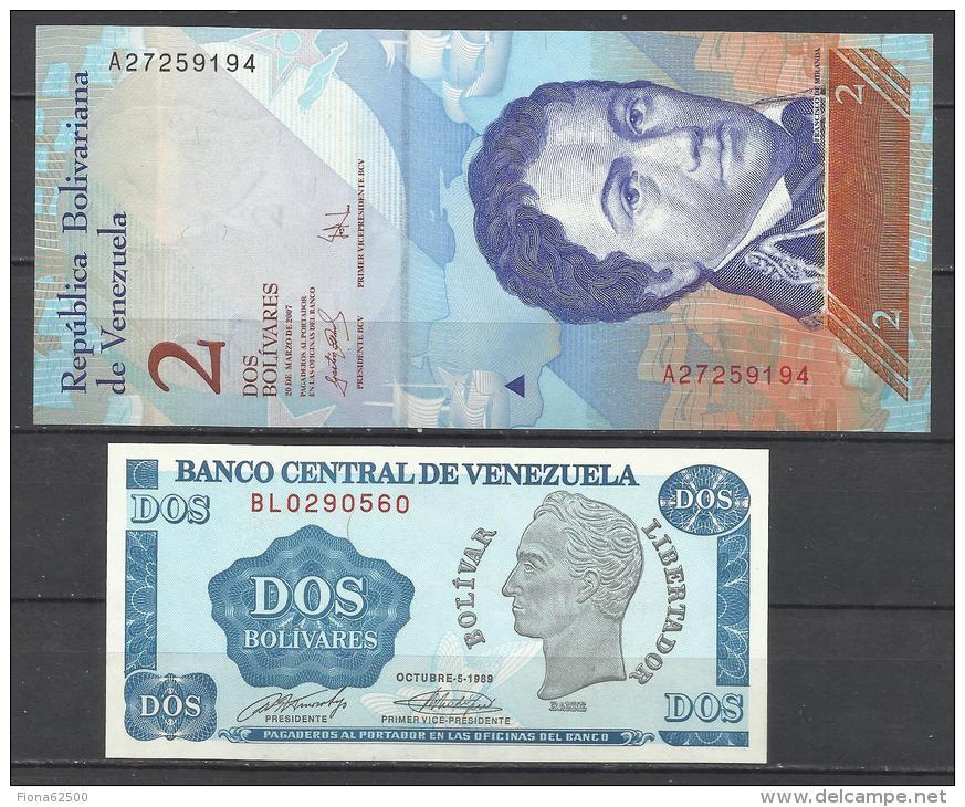 VENEZUELA . LOT DE 2 BILLETS   . - Venezuela