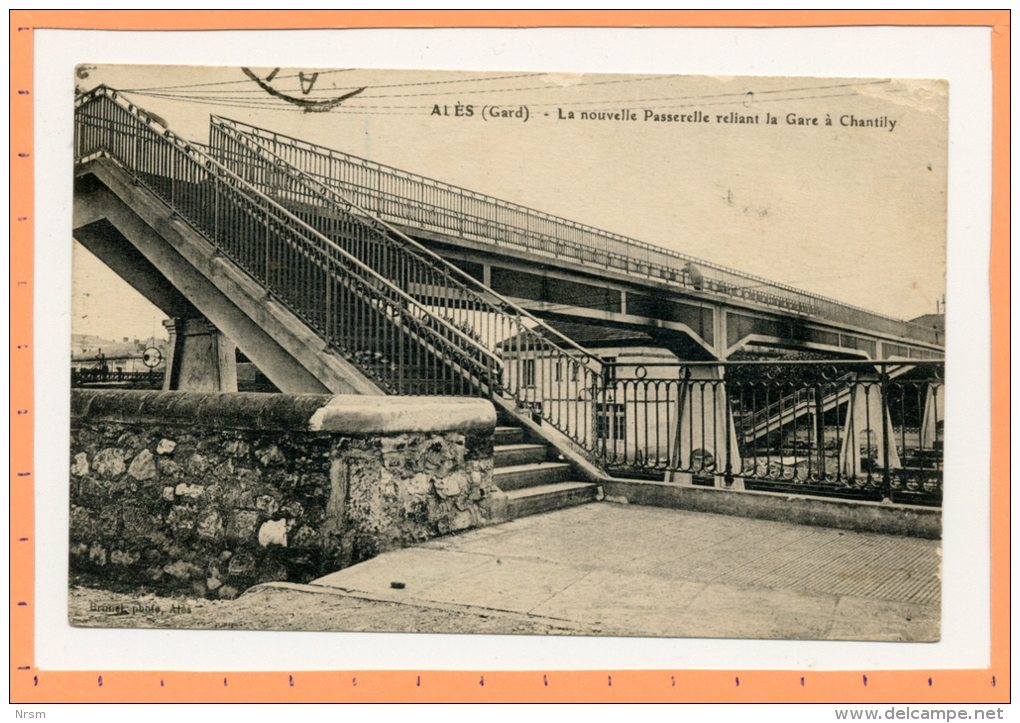 CPA ALES (Gard) - Nouvelle Passerelle De La Gare - Alès