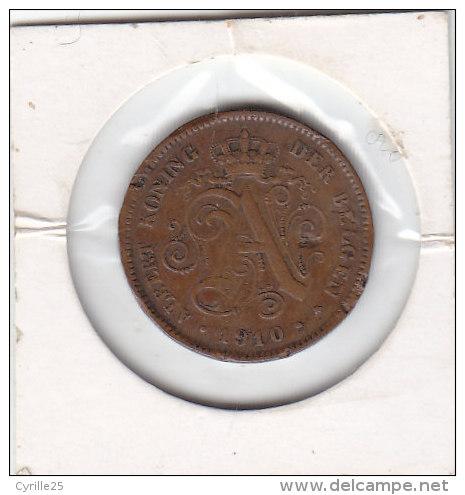 2 Centimes Cuivre Albert I 1910 FL - 02. 2 Centimes
