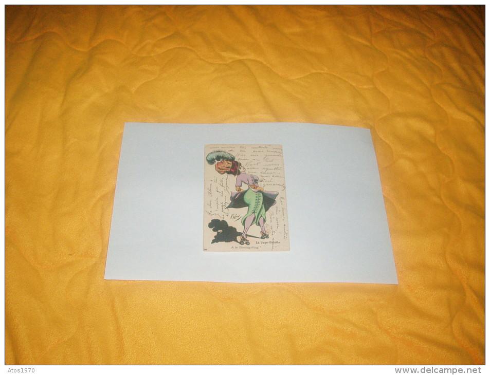 """CARTE POSTALE CIRCULEE DATE 1911 ?. /  LA JUPE-CULOTTE. A LA SKATING-RING"""" 146 / SIGNE LAFON / CACHETS + TIMBRES. - Illustratori & Fotografie"""