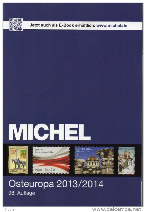 East-Europa Stamps Catalogue 2014 New 60€ MICHEL Part 7 With Polska Russia Sowjetunion USSR Ukraine Moldawia Weißrußland - Deutsch